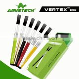 Newest product electronic cigarette vaporizer factory supply 280mah 510 ego battery slim pen kit veretx made in china