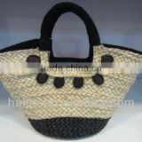 Chinese manufacturer natural seagrass handmade fashion lady hand bag