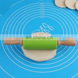 Food grade small size wooden handle silicone rolling pin