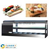 Best Quality Mini Refrigerator Showcase A cheap glass Refrigerator Price Made Of Stainless Steel (SUNRRY SY-SS1200B)                                                                         Quality Choice