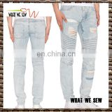 One men international light jeans men wash ruffle price of denim jeans