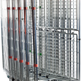 Foldable Steel Roll Cage Trolley With Pallet For Agricultural
