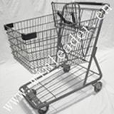 American style supermarket 100L shopping cart trolley for sale