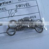 1/0 silver barrel swivels