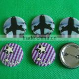 4C offset printing button badge with safety pin