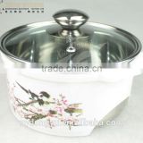 flower stainless steel cooking pot /16cm diameter ynxn stainless steel cooking pot/ fancy dinnerware
