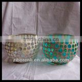Table Decor Chinese Colored Mosaic Glass Round Ball Candle Holder