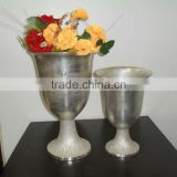 Flower Vase for Home Decoration Silver Plated