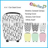 Multi-Use Stretchy 4 in 1 Baby Car Seat Cover Canopy and Nursing Cover