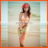 Cutomized ladies floral beach dress