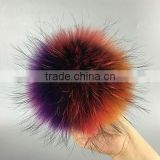 9-15cm Natural raccoon fur ball For keychain bags New dyed animal fur pom pom for shoes cap accessories