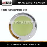 Safety LED Fluorescent Plastic Reflective Road Stud Markings