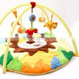 Wholesale non-toxic lion style musical gym baby kids play mat with hanging toys M5082203