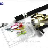 <b>Fishing</b> <b>Rod</b> Combos Telescopic <b>Pole</b> with Reel Travel Portable Fish Kits