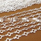 Silver Tone Flower Chain Copper Link Chain For Jewelry Diy