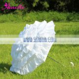 A0250 White Can Can Parasol Umbrella