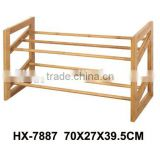 2 tiers bamboo shoes rack stand
