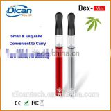 2016 new slim thc oil pen e-cigarette mini empty bud cartridge 0.5ml cbd oil vape and 510 touch pen battery blister starter kit