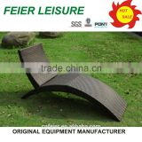 plastic with aluminium sun lounger for outdoor