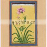 Indian Beautiful Floral Miniature Painting Ethnic Hand Painted Wall Decor Water Color Original Paper Painting