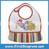 Factory Production 3mm Thick Baby Fashion Pattern Neoprene Bibs