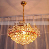 Gold Crystal Glass Small Chandelier Pendant Light in China