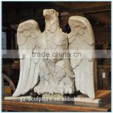 Outdoor Marble eagle Statue for garden decoration