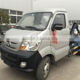 low price 4x2 diesel light sinotruk CDW mini hook lift garbage truck 3m3