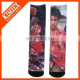 Custom design polyester sublimation socks