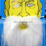 customized party synthetic fake white moustache beard MMO-0042