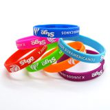 Wholesale Personalised Metal Custom Promotion Silicone wristband