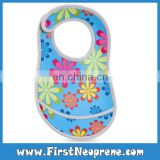 Rainbow Flower 3mm Thick Neoprene Sublimation Printing Baby Bibs