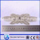 Exquisite handmade crystal rhinestone pearl wedding apparel accessories, bridal satin ribbon belt accessories