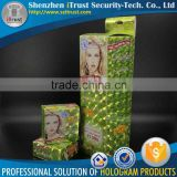Trade Assurance Free sample Free design 3D hologram Silver paper custom box printing