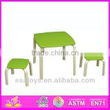 2015 New cute wooden chairs and tables, popular wooden chairs and tables and hot sale colorful chairs and tables WO8G099