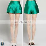 T-WS502 High Waist Wid Leg Satin Womans Shorts
