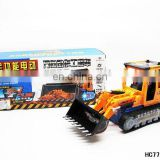 Kids play games electronic music custom logo plastic truck toy with light