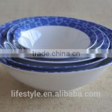 5pcs porcelain bowl set with decal printing