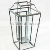 metal lantern with glass for home garden