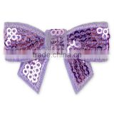 Kids boutique hair accessories sequin bows 4.5 cm wide lavender green red bow DIY
