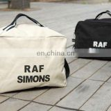 new design cheap promotional cotton canvas duffel bag