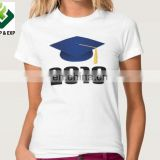 Cheap 100% cotton short Sleeve Graduation T-shirt