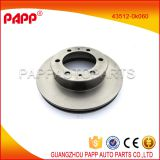auto parts toyota brake disc 43512-0k060 for hilux