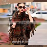 Europe style whloesale price natural mink fur shawls cape for women