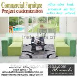 mustard green modern simple on sale hallway lobby fabric sofa high fashion project furniture office living room sofa