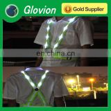NEW led safety vest led lighted safety vest white safety vest