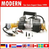 12V Metal car double cylinder air pump/auto air compressor/auto tyre inflator with jump leads                                                                         Quality Choice