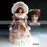 Hot selling porcelain dolls made in china 22'' umbrella dolls