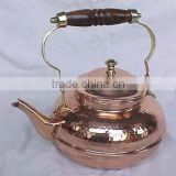 BPA free Solid Copper polished tea kettle, Water kettle, Cute Brew kettle, Portable tea kettle, Stovetop kettle