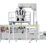 Horizontal bag weighing packaging system